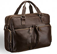 Деловая сумка Blamont из натуральной кожи коричневого цвета (Bn002C)
