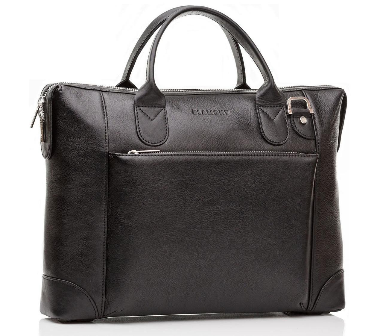 Деловая сумка для мужчин из натуральной кожи в коричневом цвете Blamont (Bn006A)