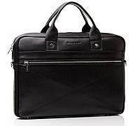 Деловая мужская сумка в черном цвете от производителя Blamont с отделом для ноутбука Bn013A