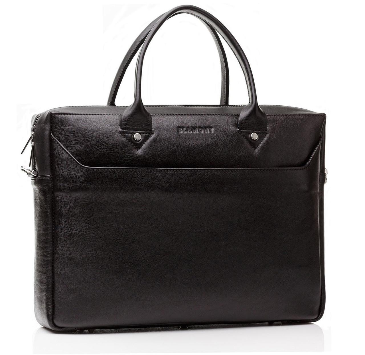 Мужская сумка для документов с отделом для ноутбука и наплечным ремнем Blamont (Bn024A)