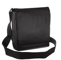 Классическая мужская сумка Мессенджер Blamont в черном цвете с наплечным ремнем (Bn027A)