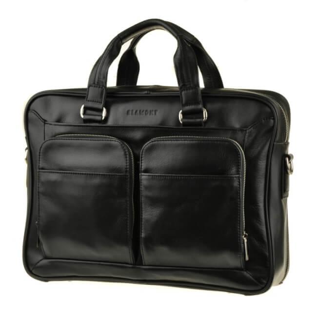 Вместительная мужская сумка для документов в черном цвете Сумка Blamont Bn035A
