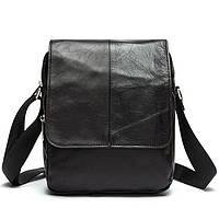 Кожаная Мужская сумка через плечо в темно коричневом цвете BEXHILL (BX9108C)