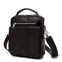 Мужская сумка почтальонка с ремнем через плечо в темно коричневом цвете BEXHILL BX8806C