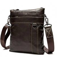Мужская сумка через плечо в коричневом цвете из натуральной кожи BEXHILL (BX9010C)