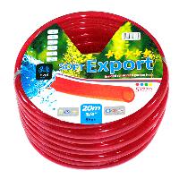 Шланг ПВХ пищевой Софт Export, диаметр 3/4 дюйма, длина 20/30/50 м, однослойный, стенка 2,5 мм, красный