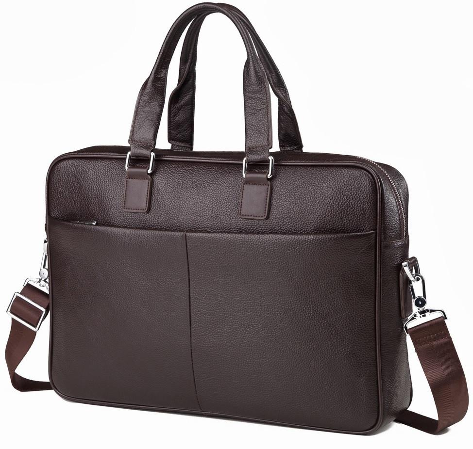 Мужская сумка для ноутбука в черном цвете TIDING BAG (M2164C)