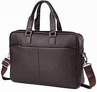 Классическая мужская сумка для ноутбука в черном цвете TIDING BAG (M2164C)