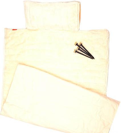 Пляжный коврик с подголовником 80х150 Велюр кремовый