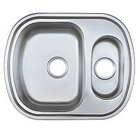 Мойка кухонная 63*49 см две чаши матовая 0,8 мм глубиной 18 см оптом