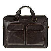 Сумка для мужчин от мирового бренда Blamont вмещает ноутбук, документы, гаджеты  в коричневом цвете (Bn035C)