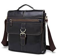 Кожаная мужская сумка BEXHILL с ручкой и наплечным карманом аксессуар ручной работы коричневый цвет (BX1292DB)
