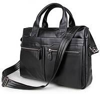 Классическая мужская сумка с ручками в черном цвете Jasper&Maine (7122A-1)