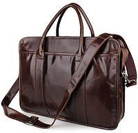 Стильная мужская наплечная сумка из натуральной кожи Jasper&Maine в коричневом цвете (7321C)