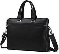 Сумка для ноутбука в классическом стиле мужская, натуральная кожа высокое качество TIDING BAG (M5861-3A)