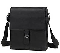 TIDING BAG классическая мужская сумка из натуральной кожи в черном цвете  TIDING BAG (M2860A)