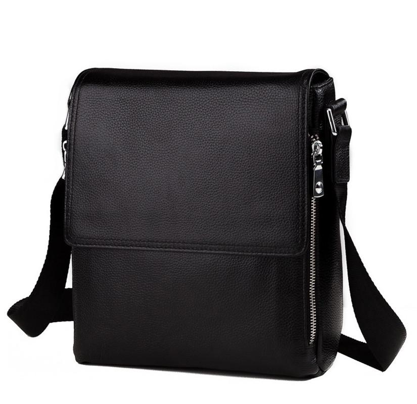 Мессенджер из натуральной кожи высокого качества с наплечным ремнем TIDING BAG (M8009-3A)