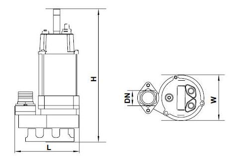 Бытовой дренажный насос Aquatica 773324 размеры_2