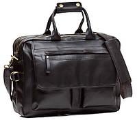 Классическая вместительная деловая сумка в черном цвете TIDING BAG (G8845A)
