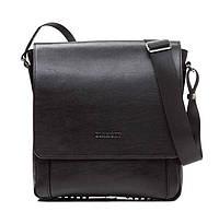 Мужская наплечная сумка в черном цвете Blamont (Bn082A)