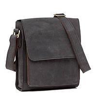 Эксклюзивная сумка от производителя TIDING BAG выполнена в винтажном стиле черного цвета (G8843A)