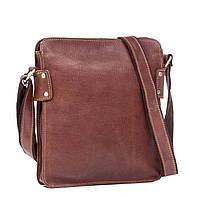 Наплечная Мужская сумка планшет из натуральной кожи в коричневом цвете TIDING BAG (G8856B)