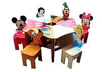 Большие детские наборы Стол+6 стульев Любимые герои №2 Даруся