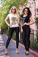 """Д363 Женский комплект футболка+лосины """"Леопард"""""""