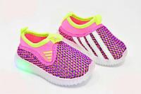 Светящиеся Кеды кроссовки для девочки лето