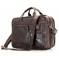 Деловая наплечная мужская сумка из натуральной кожи Jasper&Maine (7093C)