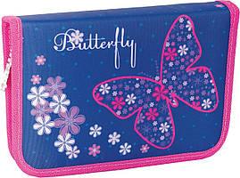 """Пенал """"Smart"""" 1блиск. Flower butterfly  ненаповн. 531348"""