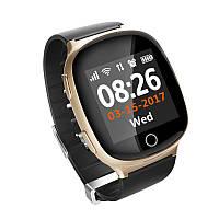 Умные часы gps для детей, подростков и пожилых людей сенсорные D100 EW100s 1.54″ Wifi. Золотые