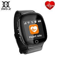 Умные часы gps для детей, подростков и пожилых людей сенсорные D100 EW100s 1.54″ Wifi. Черные