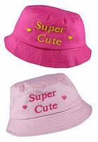Панама розовая 100% хлопок для девочки 1-3 года