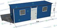 Блок-контейнер (бытовка) 9х2,4х2,4 Стандарт