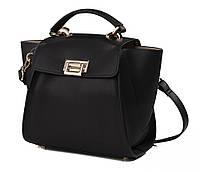 Женская кожаная сумка почтальйонка Karfei на застежке (1711158-04A)