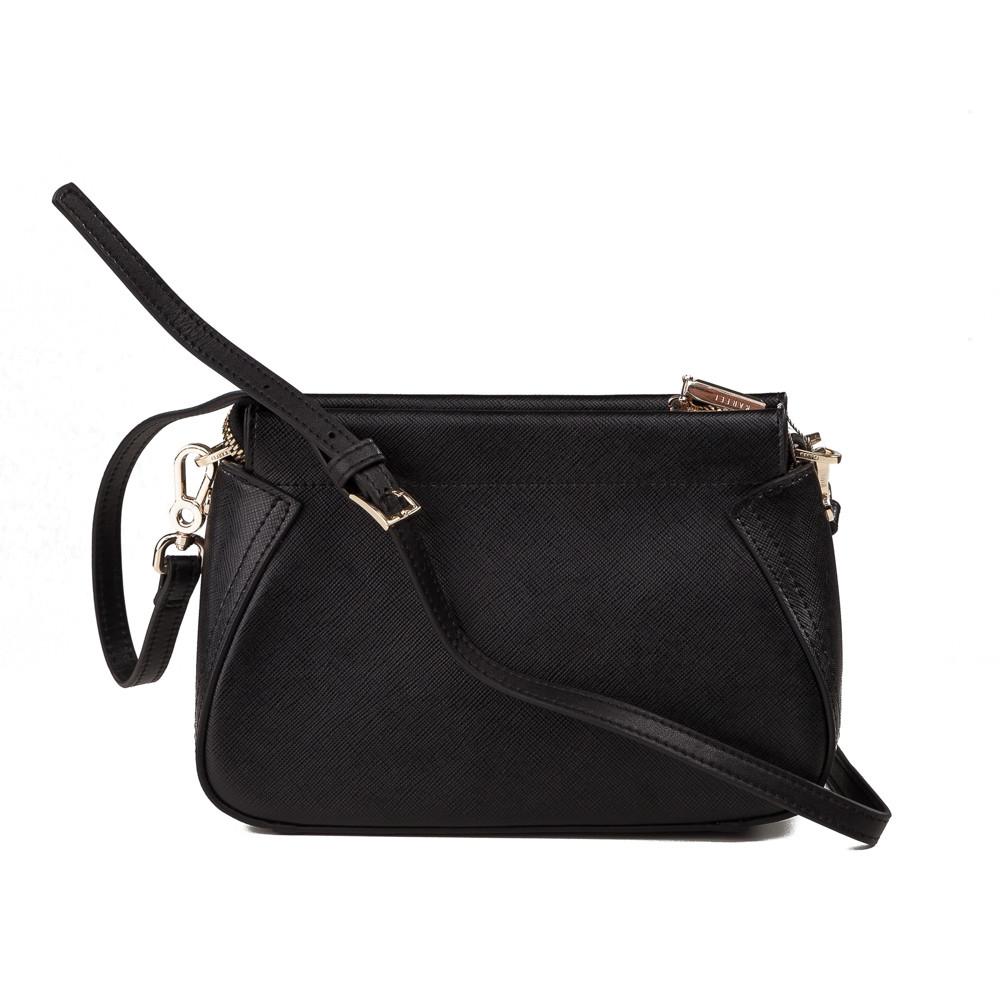 e1cd3abd4856 Маленькая черная сумка Karfei со значком из натуральной кожи (1711168-02A),  цена 1 740 грн., купить в Киеве — Prom.ua (ID#542152284)
