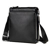 Наплечная Сумка-планшет мужская в черном цвете Tiding Bag (M664-2A)