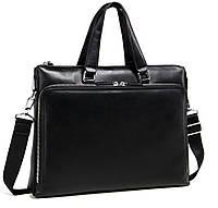Очень стильная и красивая деловая сумка для мужчин, натуральная кожа черный цвет Tiding Bag (M664-4A)
