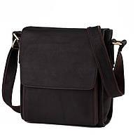 Вместительная наплечная мужская сумка выполнена из натуральной кожи в винтажном стиле  TIDING BAG (G8843-1A)