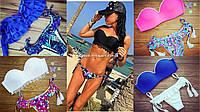 Купальники копии Victoria Secret бандо с пуш ап, трусики бразилианы