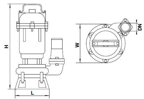 Бытовой канализационный насос Aquatica 773414 размеры_2