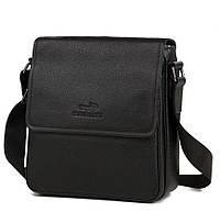 Ежедневная наплечная мужская сумка для мужчин в классическом черном цвете Tiding Bag (M38-9561A)