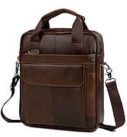 TIDING BAG наплечная мужская сумка месенджер в коричневом цвете  (M38-8861C)