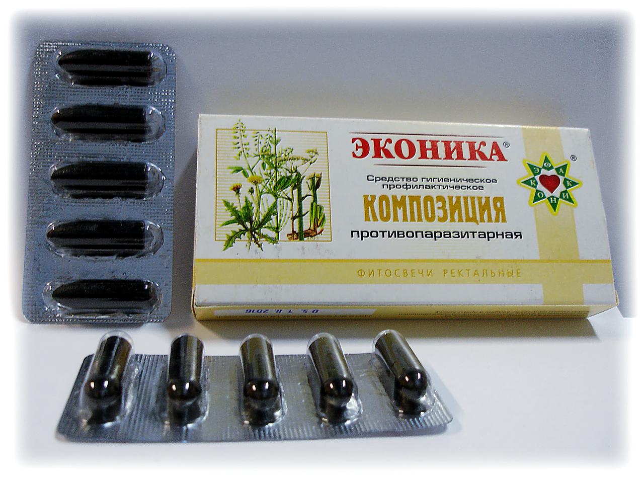 Свічки Еконіка Протипаразитарні 10 шт