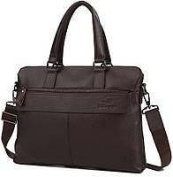 Сумка для ноутбука в темно коричневом цвете из натуральной кожи Tiding Bag (M38-6901-3C)