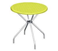 Круглый стол с алюминиевыми ножками, 80 см