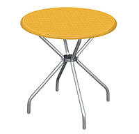 """Круглый стол с алюмин. ножками """"Beta"""" 80 см Holiday, желтый"""