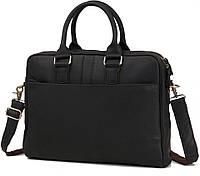 Мужская Сумка для ноутбука в черном цвете и натуральной коже TIDING BAG (G9942A)