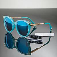 Женские очки брендовый Polaroid Диор Dior голубые